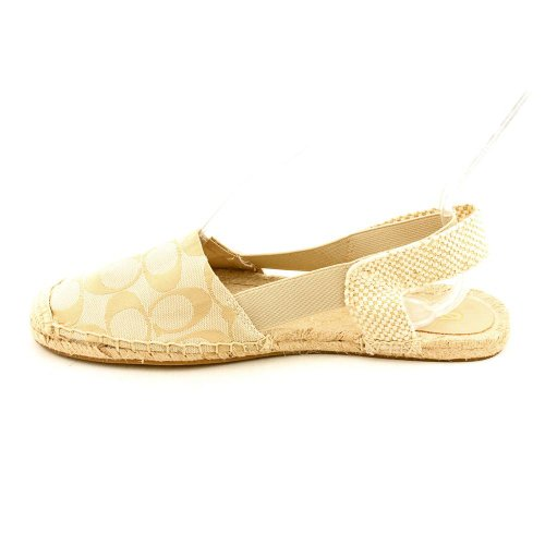 Coach Mujeres Rayanne Signature Jacquard Espadrille Flats, Style, Tan, Size 6.5
