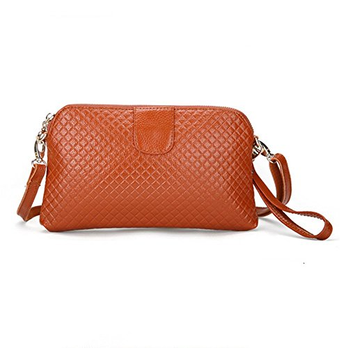 Eysee - Cartera de mano para mujer Rojo marrón 25cm*14.5cm*2cm marrón
