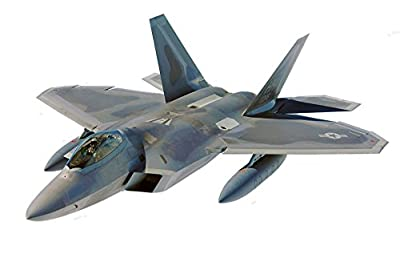 Large Military Fighter Jet F-22 Raptor Aircraft Wall Decal Sticker Boys Bedroom Airplane Wall Decor Decoration Peel and Stick