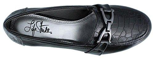 Lifestride Womens Dempsey Slip-on Loafer Zwarte Ster Fantozzi Shiny / Giovanni
