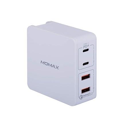 Amazon.com: Cargador de pared MOMAX de 66 W con 4 puertos ...