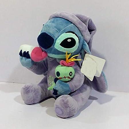 Loffer1 Peluches,Lilo Stitch Peluches Peluches Stitch Holding Scrump Peluches 26 cm Niños Peluches Regalo