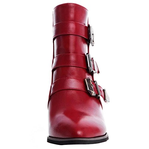 AIYOUMEI Women's Classic Boot Red 6jQiWzLHr