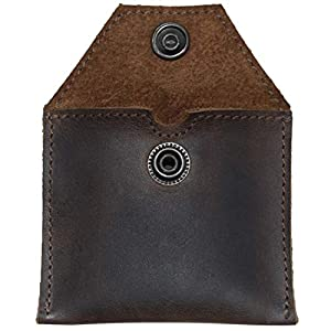 Hide & Drink, Rustic Leather Tampon Case/Condom Holder Pouch, Secret Stash Handmade Includes 101 Year Warranty :: Bourbon Brown