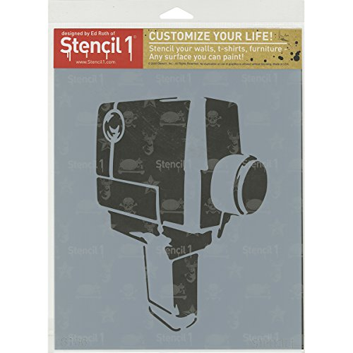 Stencil1 S1 _ _ _ _ _ _ _ _ _ _ 01 _ _ _ _ _ _ _ _ _ _ cámara Super 8 36 Stencil, 21,6 cm by 27,9 cm Color Blanco