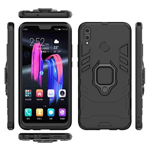 جراب Huawei Honor 8X من Numu، جراب هجين مقاوم للصدمات شديد التحمل، أسود