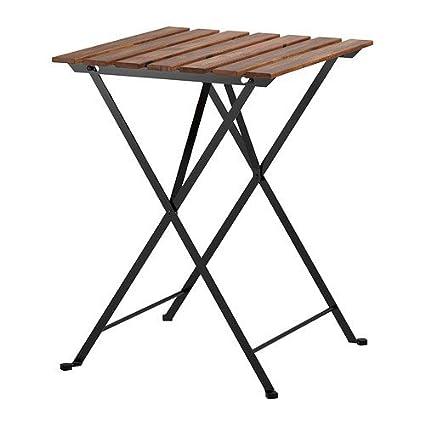 Ikea Tavoli Pieghevoli In Legno.Ikea Tarno Folding Garden Table In Solid Acacia And Steel Amazon
