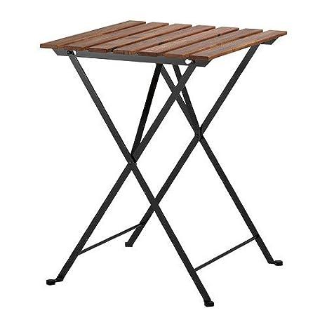Tavolino Esterno Ikea.Ikea Tarno Tavolo Pieghevole Da Giardino In Acacia Massiccio E Acciaio