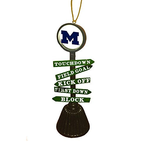 Team Sports America University of Michigan Fan Crossing Ornament ()