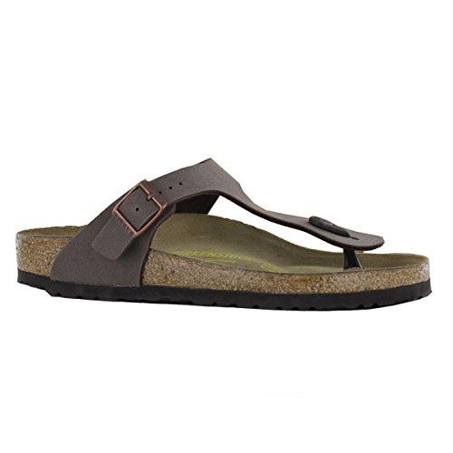 Birkenstock Women's Gizeh Mocha Birkibuc Sandals 39 R (US Women's 6-6.5)