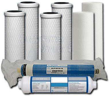 Universal 5-Stage Under Sink Reverse Osmosis Annual Replacement Filter Kit by Complete Filtration Services