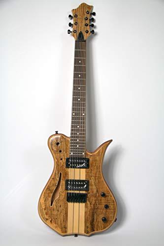 FidgetKute Starshine Top Quality 7 Strings Semi Hollow body Electric Guitar Neck Thru - Thru Neck Body