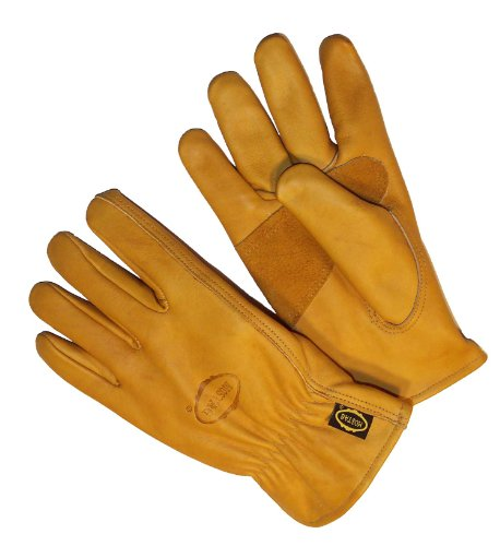Premium Cowhide Driver (G & F 6203L-3 Premium Genuine Grain Cowhide Leathers with Reinforced Patch Palm, Work Gloves, Drivers Glove 3-Pair, Large)