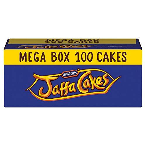 McVitie's Jaffa Cakes 100 Cakes - Mega Box - 5 x Twin Pack Carton with 20 Cakes (Christmas Jaffa Cakes)