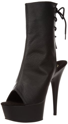 Boot 1018 Black Polyurethane Women's Black Pleaser Delight nwAq08xC4