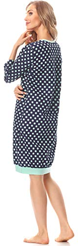 Style Merry Notte da Camicia 181 Blu Scuro Donna MS10 Pois UCCqF61