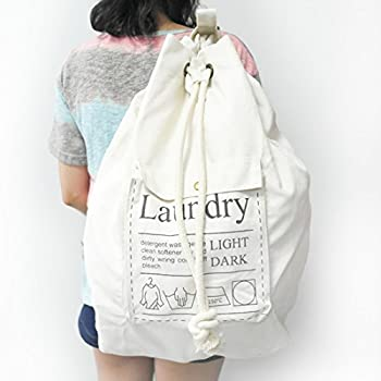 Amazon.com: Carry Handy Canvas Laundry Bag with Strong Adjustable ...