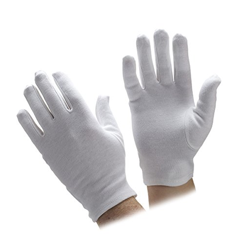 Santa Server - Go Gloves Cotton Parade Gloves, White, XX-Large, (Pack of 1 Pair)