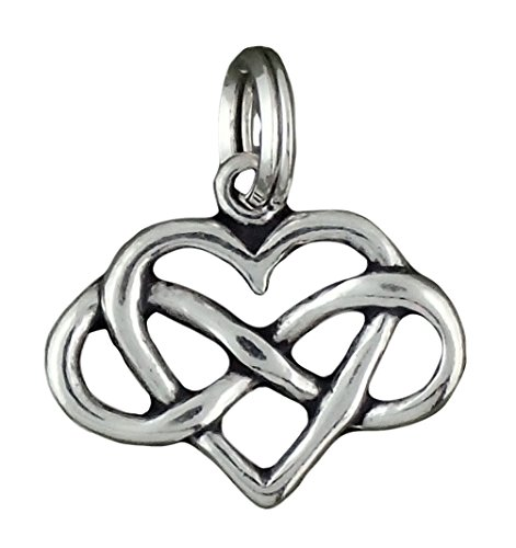 Infinity Heart Pendant (Corinna-Maria 925 Sterling Silver Infinity Heart Charm Split Ring)