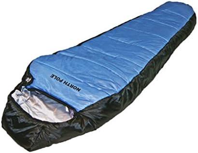 Explorer Momia Saco de Dormir North Pole de Invierno 21 °C Tienda Camping Outdoor Saco de Dormir, Azul, 220 x 88 x 58 cm