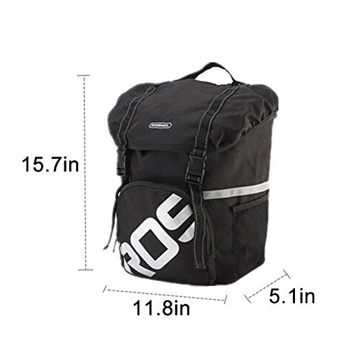 15L Waterproof Mountain Road Bicycle Rack Bag Cycling Side Rear Rack Tail Seat Trunk Bag Pannier Army Green