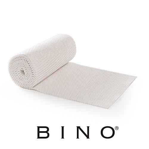 - BINO Non-Adhesive Non-Slip Shelf and Drawer Grip Liner Mat, 12 -Inch x 15-Feet, White