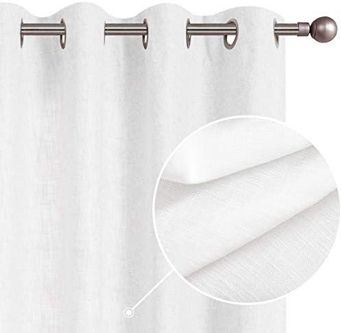 Burlap Linen Textured Curtains