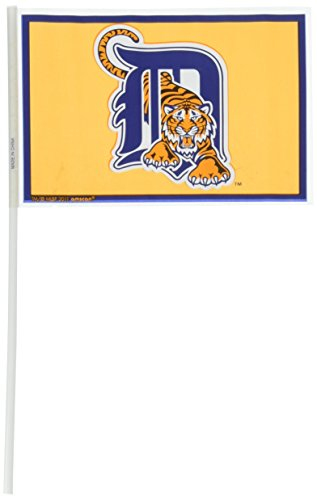 """LicensedMLB Detroit Tigers Party Team Flags Ornament, Plastic, 6″ x four"""", Pack of 12 – DiZiSports Store"""