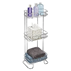 MDesign Free Standing Bathroom Storage Shelves For Towels Soap