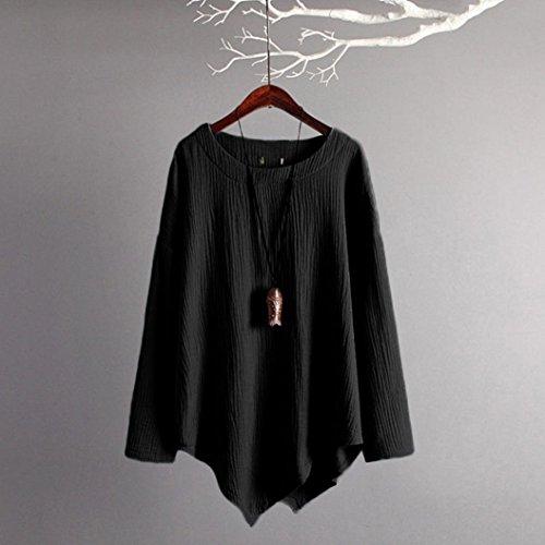 Coton Lâche Manches Femmes Beikoard Shirt Femme Mi à Camisole Blouse Chemise Lin Femme Haut Longue Noir Longues Longues T Manches Casual Élégant Haut à en pxvHwOqn