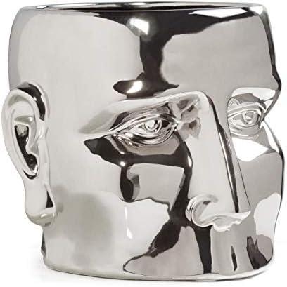 Torre Tagus Face Shape Ceramic Vase Modern Home Living Room Mantel Tabletop Bedroom Decoration