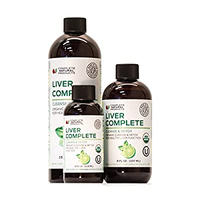 Liver Complete - Organic Natural Liquid Cleanse & Detox Supplement for Fatty Liver, Gallbladder, and Kidneys