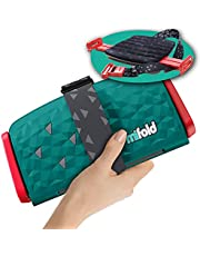 mifold New Comfort Grab-and-Go Car Booster Seat - 3x Thicker Cushion! Compact and Portable, Comfortable for Every Adventure, Emerald Green, 1 Count