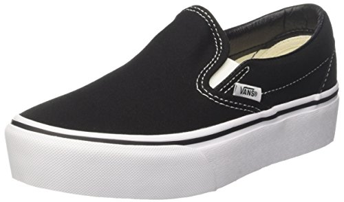 Vans Women's Classic Platform Slip on Trainers, Black (Black Blk), 7.5 B(M) US Women / 6 D(M) US Men