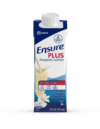 Ensure Plus Vanilla, 8 Ounce Recloseable Carton, Abbott 64905 - Case Of 24