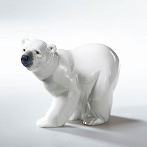 ATTENTIVE POLAR BEAR Lladro Porcelain
