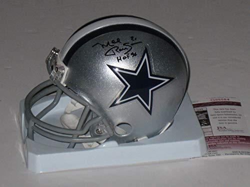 Mel Renfro Autographed Dallas Cowboys Mini Helmet (JSA COA)