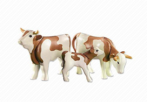 Playmobil Add-On Series - 2 Jersey Cows with - Animal Farm Playmobil