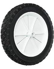 Shepherd Hardware 9615 10-Inch Semi-Pneumatic Rubber Replacement Tire, Plastic Wheel, 1-3/4-Inch Diamond Tread