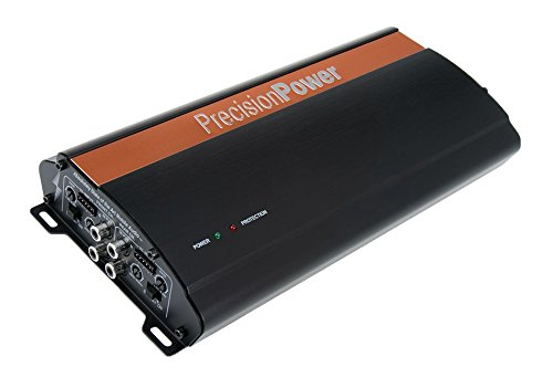 Precision Power i1000.4 650W Class D Full Range 4-Channel Amplifier, Black and Amp; Copper PRH3G