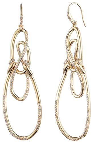Carolee Women's Twisted Drama Earring, Gold/Crystal