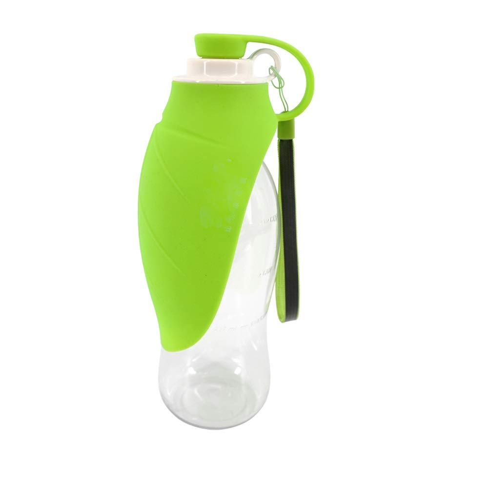 FeiQiangQiang The dog goes out to travel the water cup, the leaf type is convenient to fold and feed the water artifact, carry it freely, have a ring to hang, and it is more convenient to go out and t by FeiQiang