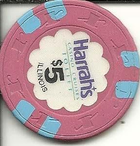 Amazon Com 5 Harrahs Casino Chip Joliet Illinois Vintage
