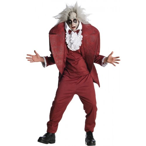 Tv Movie Themed Costumes (Shrunken Head Mens BeetleJuice Costume sz XL)