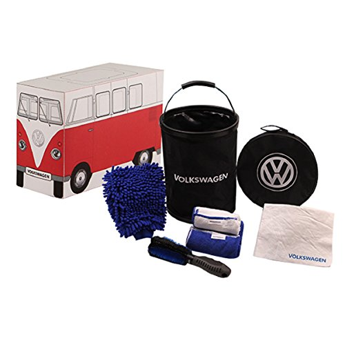 Genuine Volkswagen VW Car Wash Kit Mit Bucket Brush microfiber cloths chamois