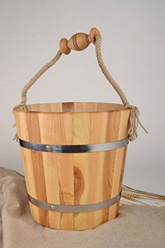 Handmade bucket made of wood sauna accessories great gift ideas By MadeHeart (Sunlight Sauna')