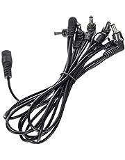H HILABEE 8-vägs rätvinklig pedal 9 V Daisy Chain kabel för gitarr effektpedal