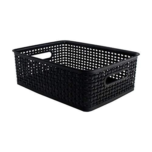 Advantus 36003 Weave Design Plastic Medium Bin, 13.75