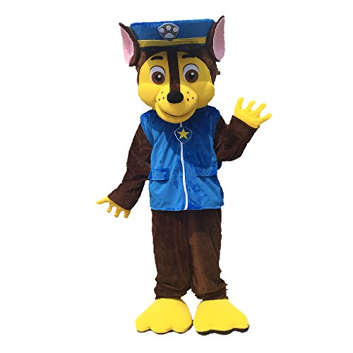 k228 Paw Patrol Chase Dog Mascot German Shepherd Puppy Spy Dog Costume -