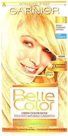 6 x Garnier Belle Color 110 rubio claro natural Tinte para el cabello